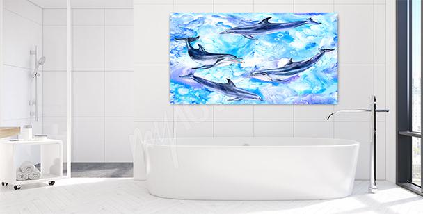 Obraz para delfinów