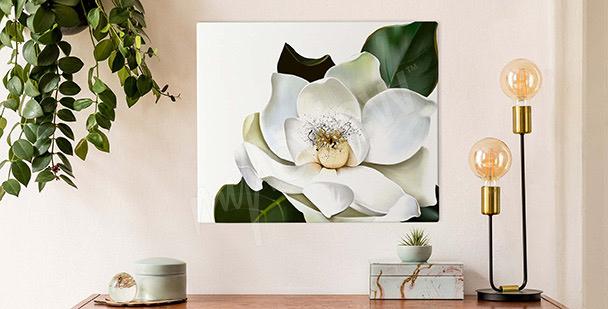 Obraz magnolia malarstwo