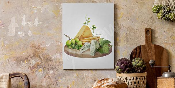 Obraz deska serów