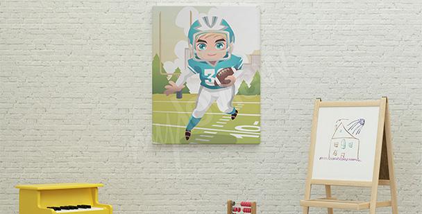 Obraz dla chłopca ze sportowcem