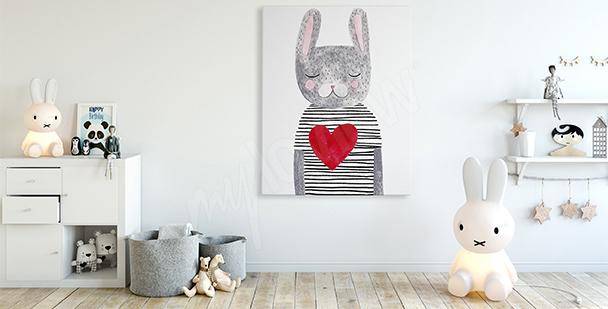 Obraz dla dzieci: zając