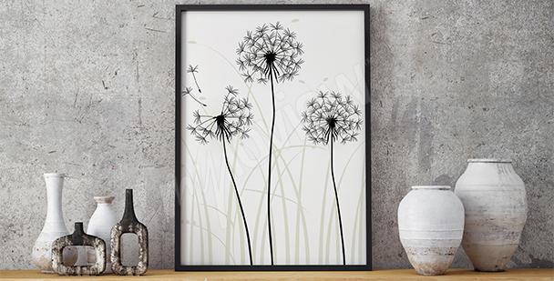 Obraz dmuchawce minimalizm