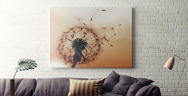 Obraz dmuchawiec w sepii