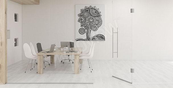 Obraz do biura czarno-biały