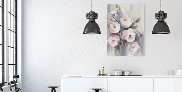Obraz do kuchni bukiet kwiatów