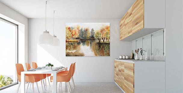 Obraz kolorowe liście do kuchni