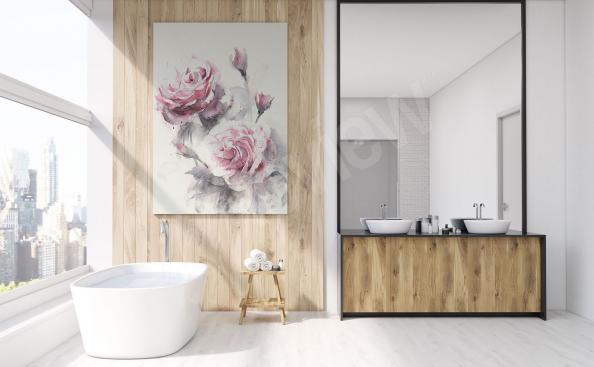 Obraz do łazienki róże