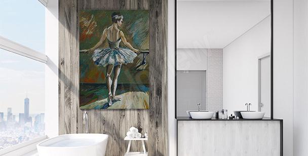 Obraz do łazienki z baletnicą