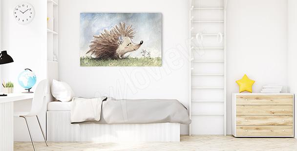 Obraz do pokoju chłopca jeż
