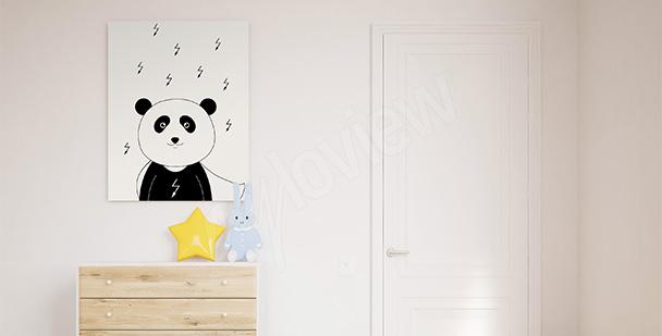 Obraz do pokoju chłopca panda