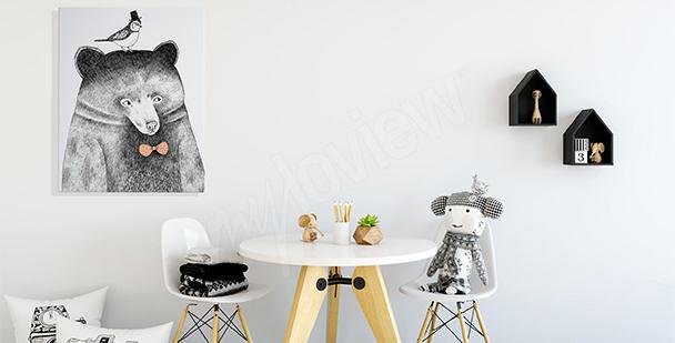 Obraz do pokoju dziecka: miś