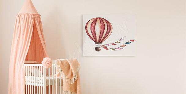Obraz do pokoju dziewczynki: balon