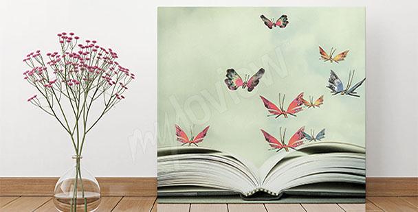 Obraz do przedpokoju w motyle