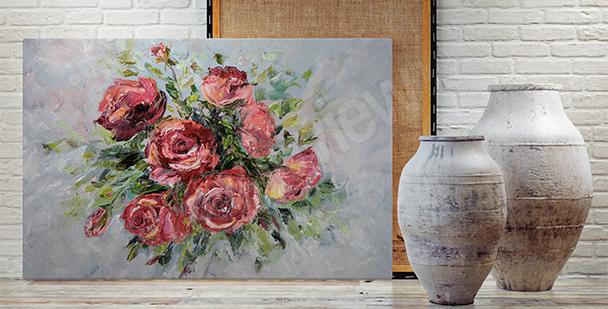 Obraz do salonu - bukiet kwiatów
