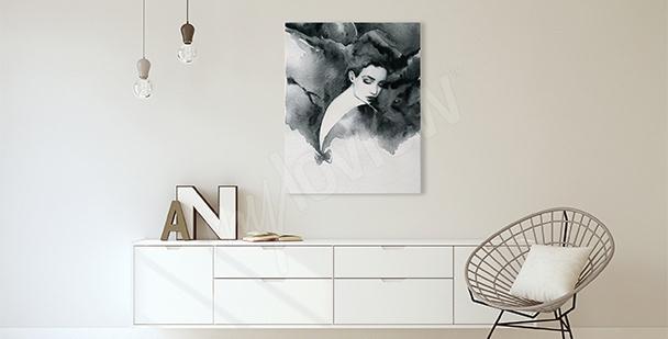 Obraz do salonu kobiecy portert