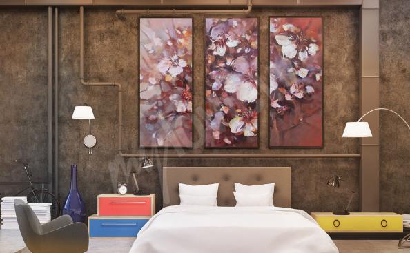 Obraz do sypialni bukiet kwiatów