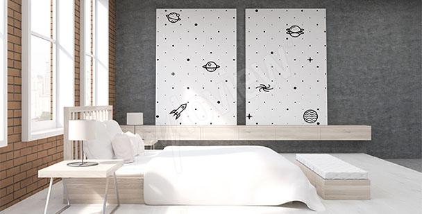 Obraz do sypialni czarno-biały