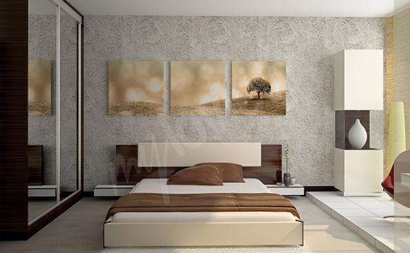 Obraz do sypialni tryptyk z drzewem