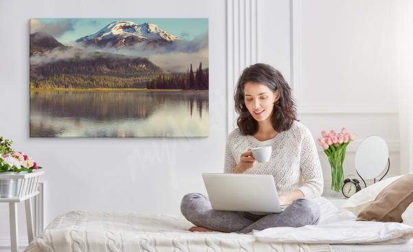 Obraz do sypialni z górskim krajobrazem