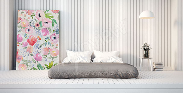 Obraz do sypialni z kwiatami