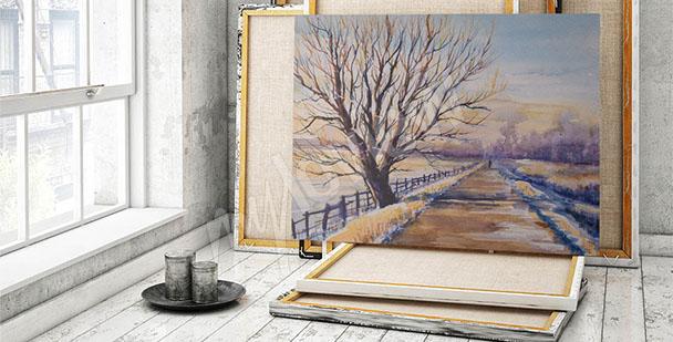 Obraz drzewo krajobraz