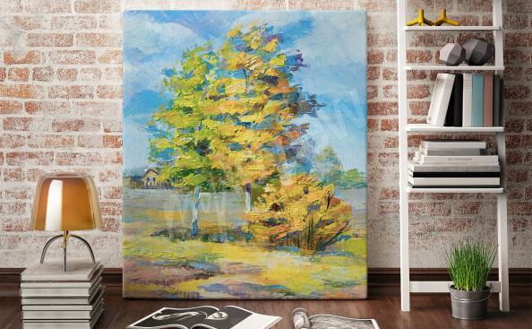 Obraz drzewo na łące