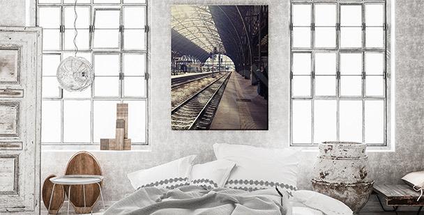 Obraz dworzec kolejowy w Pradze