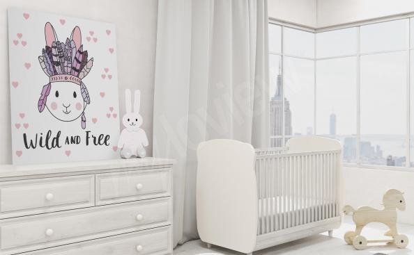 Obraz dziecięcy z króliczkiem