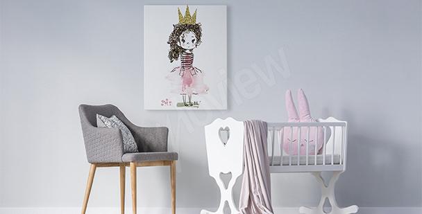 Obraz dziewczynka w koronie