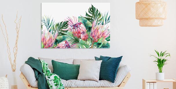 Obraz egzotyczna roślinność
