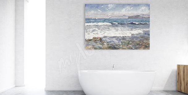 Obraz fale na morzu