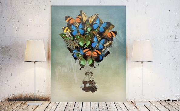 Obraz fantasy kolorowe motyle