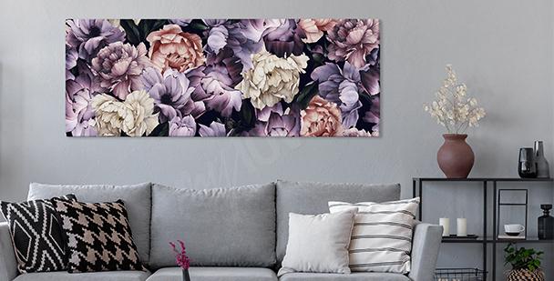 Obraz fioletowe piwonie