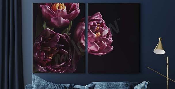 Obraz fioletowy bukiet