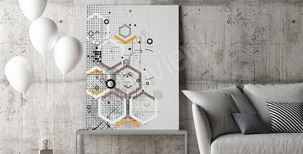 Obraz geometria do salonu