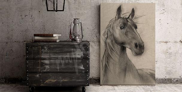 Obraz głowa konia