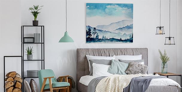 Obraz góry do sypialni