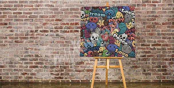Obraz graffiti dla dzieci