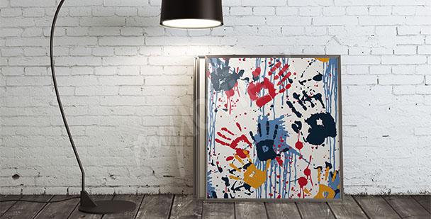 Obraz graffiti kolory