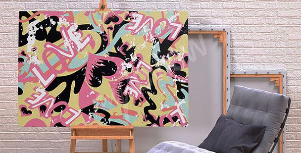Obraz graffiti miłość