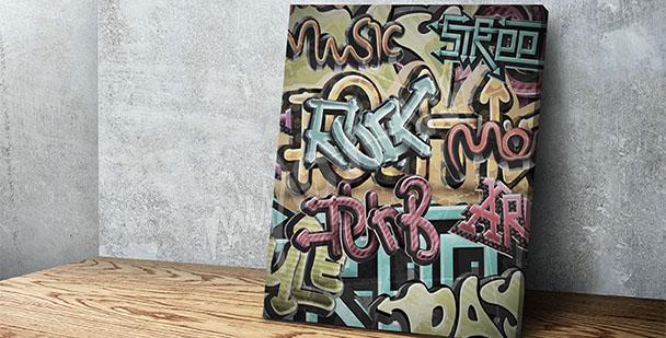 Obraz graffiti muzyka