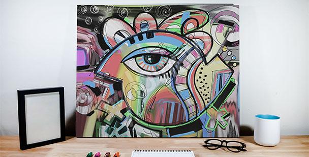 Obraz graffiti oko