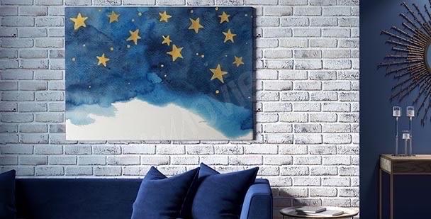 Obraz gwiazdy na niebie