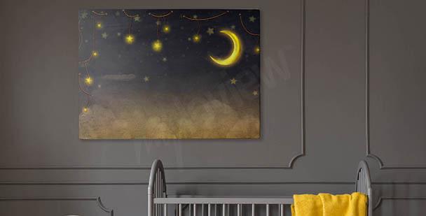 Obraz gwiazdy na nocnym niebie