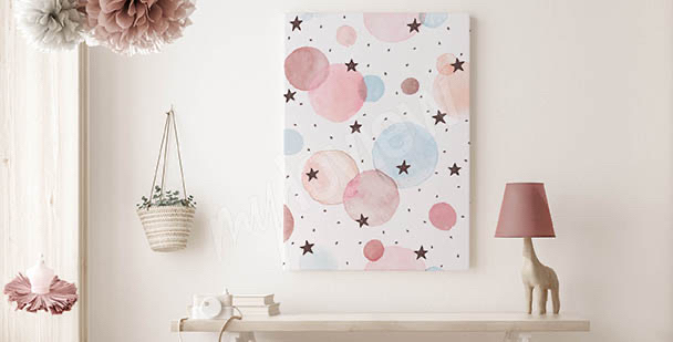 Obraz gwiazdy w akwareli