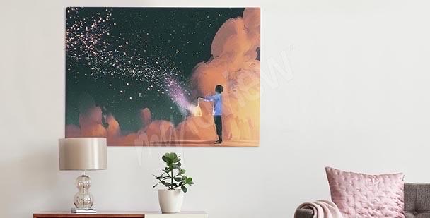 Obraz gwiazdy i paski
