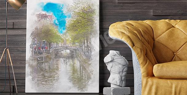 Obraz holenderski pejzaż