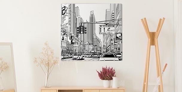 Obraz ilustracja wielkiego miasta