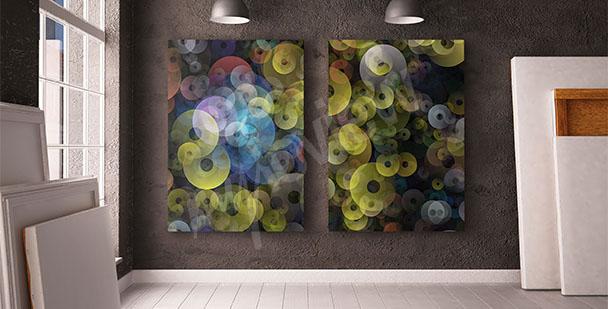 Obraz iluzja kolorowe koła