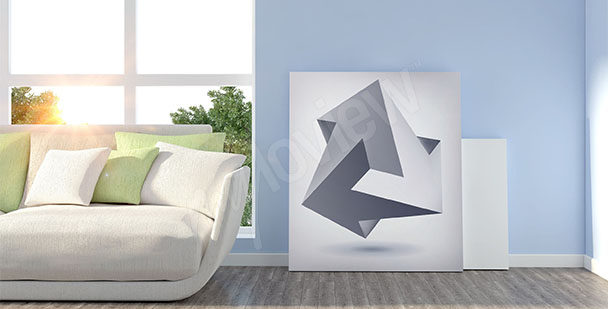Obraz iluzja minimalizm 3D